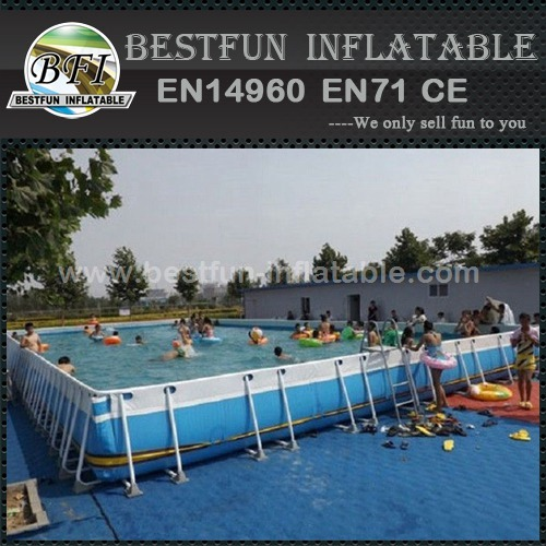Summer vocation metal frame swimming pool for sale