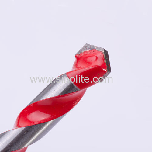 Multi purpose Drill Bits for universal cutting Metal Tile Wood Masonry.in red flute
