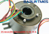 through bore slip ring of 25mm through bore 5/10/15A for radar military equipment from Barlin Tim