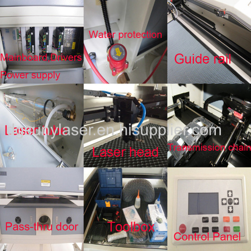 80W/100W/130W Laser Cutting Machine for Nonmetals from Sunylaser