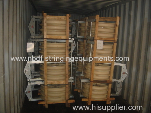 750MM Overhead Line Conductor Stringing Blocks with Nylon Wheels