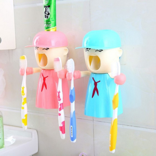 Creative cartoon Touch N Brush toothpaste dispenser