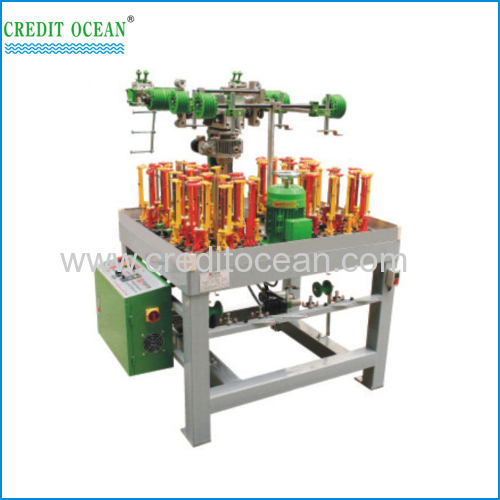 High speed round cord braiding machine with non-polar adjust weft density device