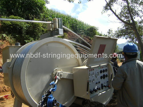 Conductor Puller Tensioner for re-conductoring work in maintenance of transmission line