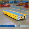 Low bed steel platform rail transfer trolley
