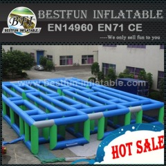 Inflatable obstacle course maze