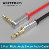 Vention 3.5mm jack Audio Cable male to male Extension Cable 90 Degree Right Angle Flat Aux Cable for Car/Headphone/PM4/P