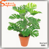 pot of plastic plant green leaves artificial bonsai tree fake plant for shop sale