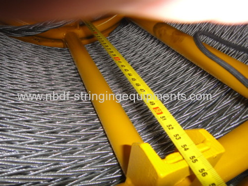 22MM Anti Twist Steel Wire Rope for Four bundled conductors stringing