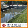 Portable construction barrier for iron fence
