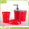Fashion Bright Color Irregular Metal And Plastic Bathroom Fittings Set
