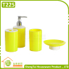 Round Hotel Bathroom Sanitary Set With Soap Dish Dispenser Tumber Toothbrush Cup