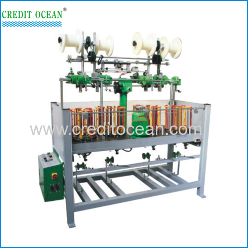 High speed braiding machine with auto take-up device