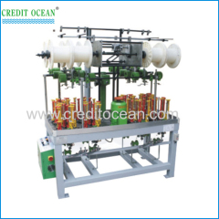 High speed round cord braiding machine with auto take-up device