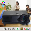Mini home&office projector for entainment 800*480p support 1080p HDMI USB Audio video input beam projector