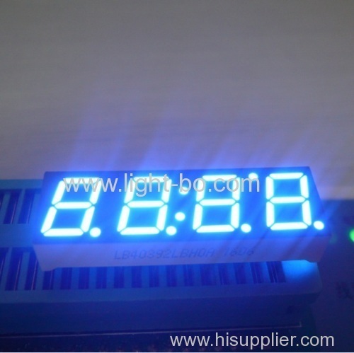 0.39 inches 4-digit common cathode super bright green 7 segment clock led display for instrument panel