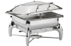 Commercial Stainless Steel Chafing Dish Square Banquet Food Warmer Display