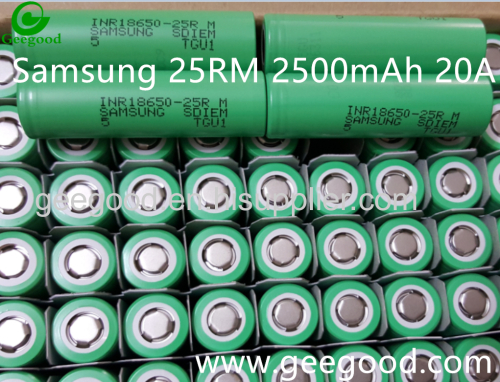 Samsung SDI 2016 new model 18650 25 RM 25 R 2500mAh 20A real high amp 18650 battery for vape