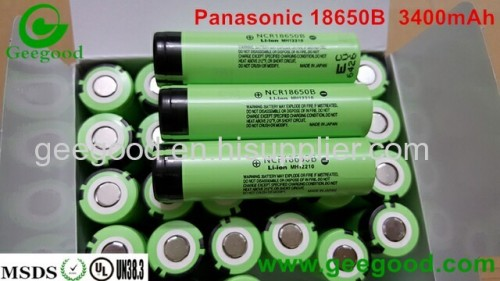 Panasonic 18650B 3400mAh 3.7V li ion rechargeable battery  high capacity battery best tesla battery