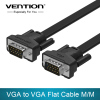 VGA to VGA Flat Cable Male to Male 15 Pin Extension Monitor Cable High Premium HDTV VGA Cable