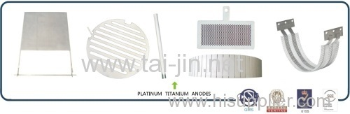 Platinized Titanium Anode Used in Water Ionizer and Hard Chromium Plating