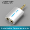 3.5mm Earphone Splitter Audio Splitter Adapter 1 Male to 2 Female For Headphone Earphone PC Mobile Phone Mp3 Mp4