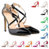 New style buckle and elastic band high heel pump shoes