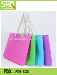 Hot Candy Color silicone rubber shoulder beach bag