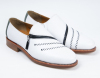 white flat men office shoes