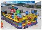 Outside Inflatable Amusement Theme Parks With Bounce House Waterproof PVC