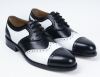 New Fashion Black and White lace up men office shoes