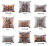 100% polyester / linen blend / cotton / silk / suede / PU or custom cushion pillow cover