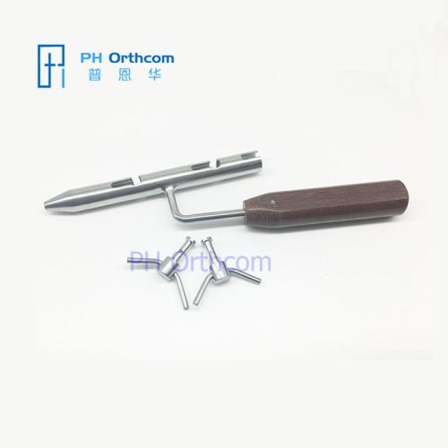 Wire Loop Tighter with Handle and two pegs small Veterinary Orthopedic Instrument