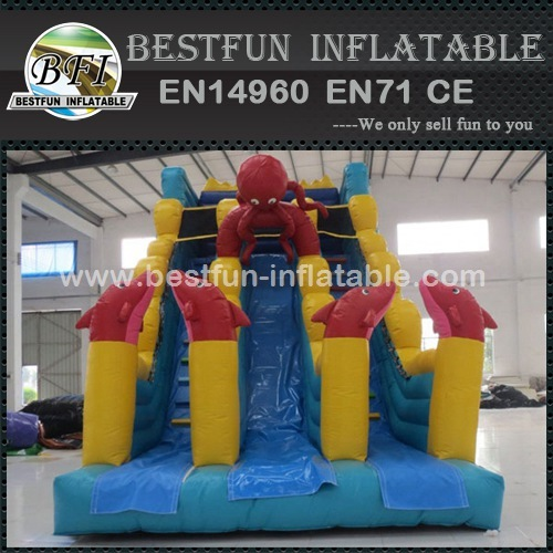 Kidwise Commercial Ocean Dry Inflatable Slide