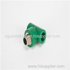 PPR Fitting Tee Male Different Types Of PPR Pipe Fittings For Pumps Valves