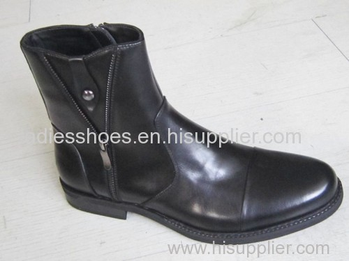chinese fashion new style men patent leather boots