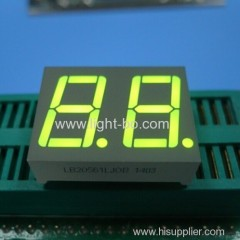 "0.56"" common cathode super greeen dual digit led 7 segment displays"