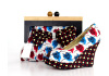 African Printed Fabric Ladies Shoes With Matching Bags