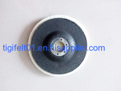 Natural wool felt pad with disc