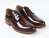 PU patent leather pointed toe men offices shoes