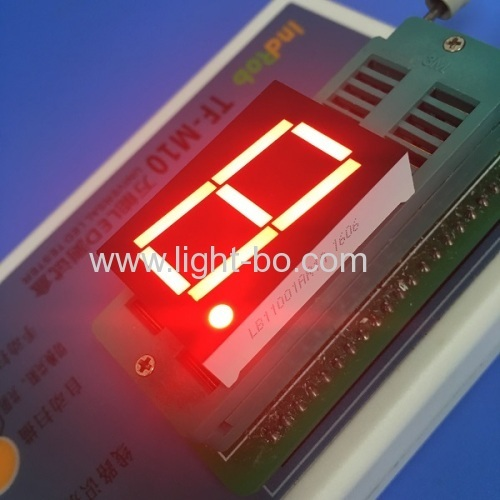 Super red 1.0  common anode single digit 7 segment led display for digital panel meter