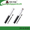 2016 New Design Portable Aluminum Dual Action Bicycle Pump with Flexible Hose and Pressure Gauge