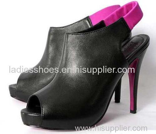 new style slingback leather women fashion hgih heel boots