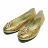 Gold paillette women dress shoes