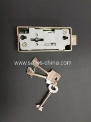 safe deposit box lock single nose with 1guard key and 2 renter keys for bank cabinets or hotel lobby