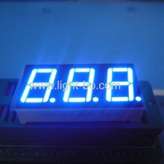 "Ultra bright blue 3 digit common cathode 0.56"" 7 segment led display for digital indicator"
