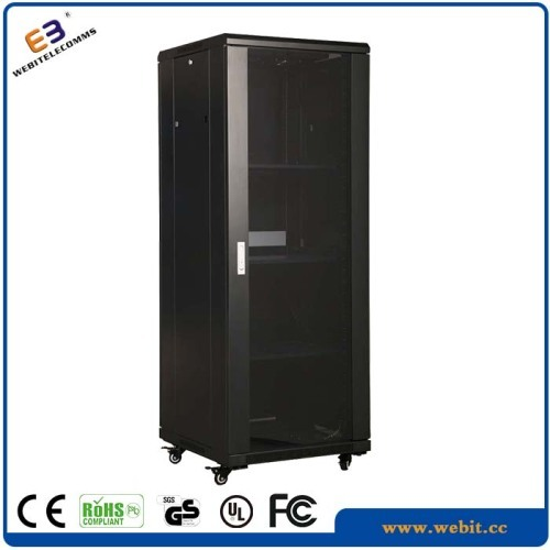 19 inch glass front door network cabinets