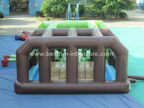Massive Inflatable Military Obstacle Course