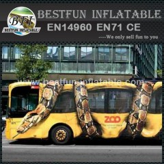 Python attact bus combination inflatable obstacle course