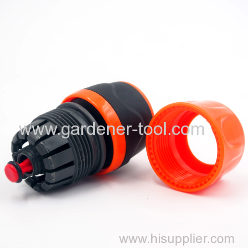 Plastic garden hose soft universal quick connector with waterstop